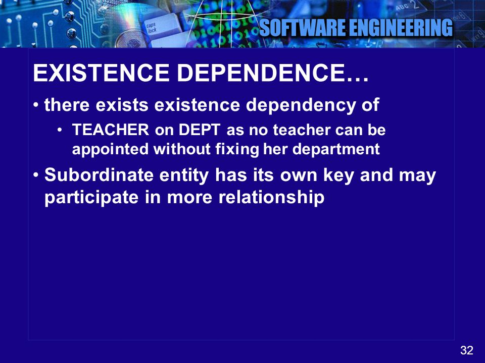 EXISTENCE DEPENDENCE…