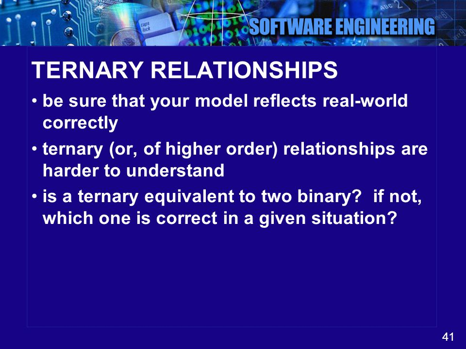 TERNARY RELATIONSHIPS