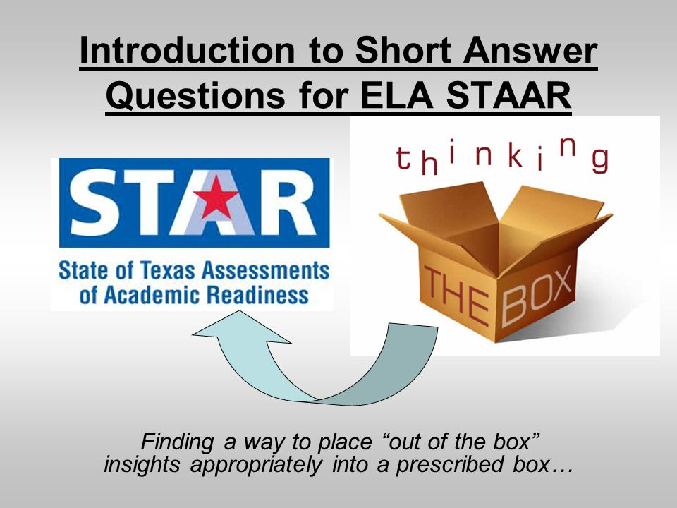 Introduction to Short Answer Questions for ELA STAAR