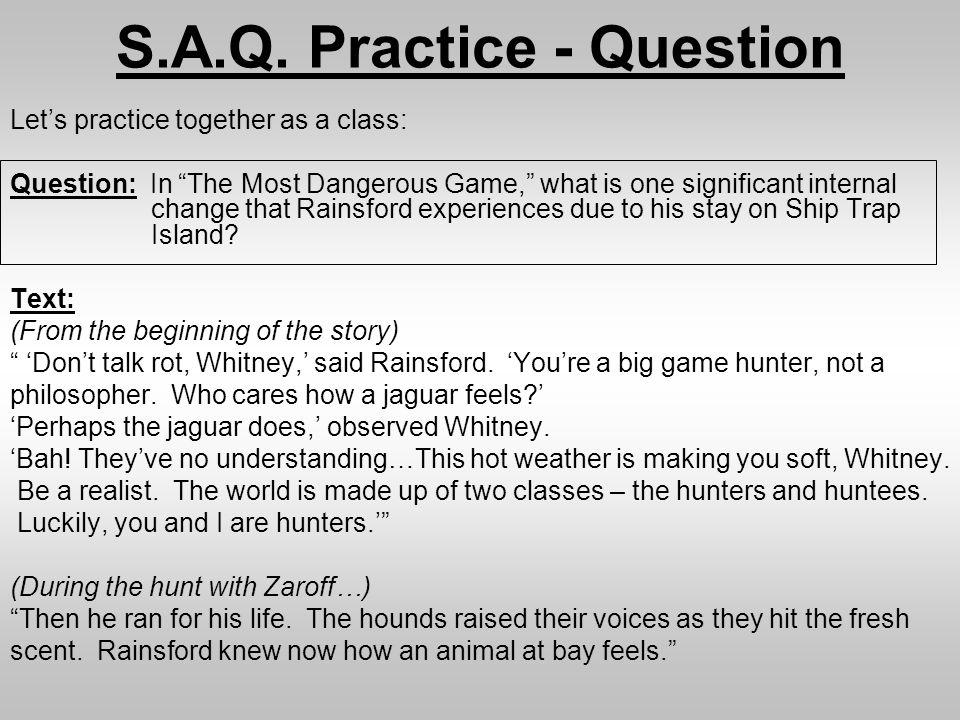 S.A.Q. Practice - Question
