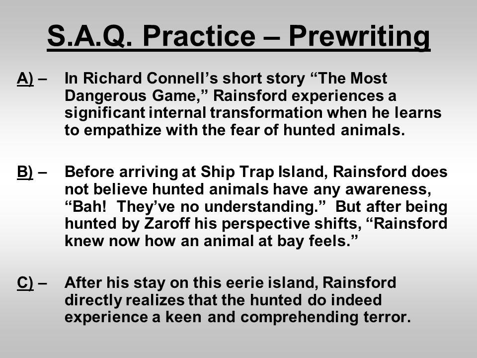S.A.Q. Practice – Prewriting