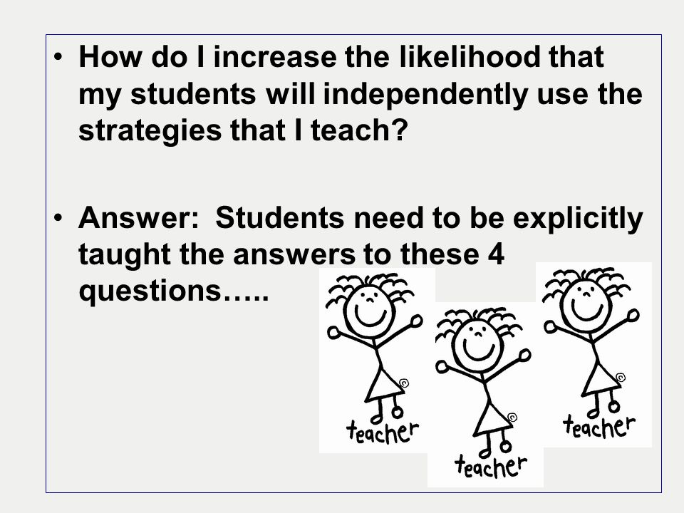 How do I increase the likelihood that my students will independently use the strategies that I teach