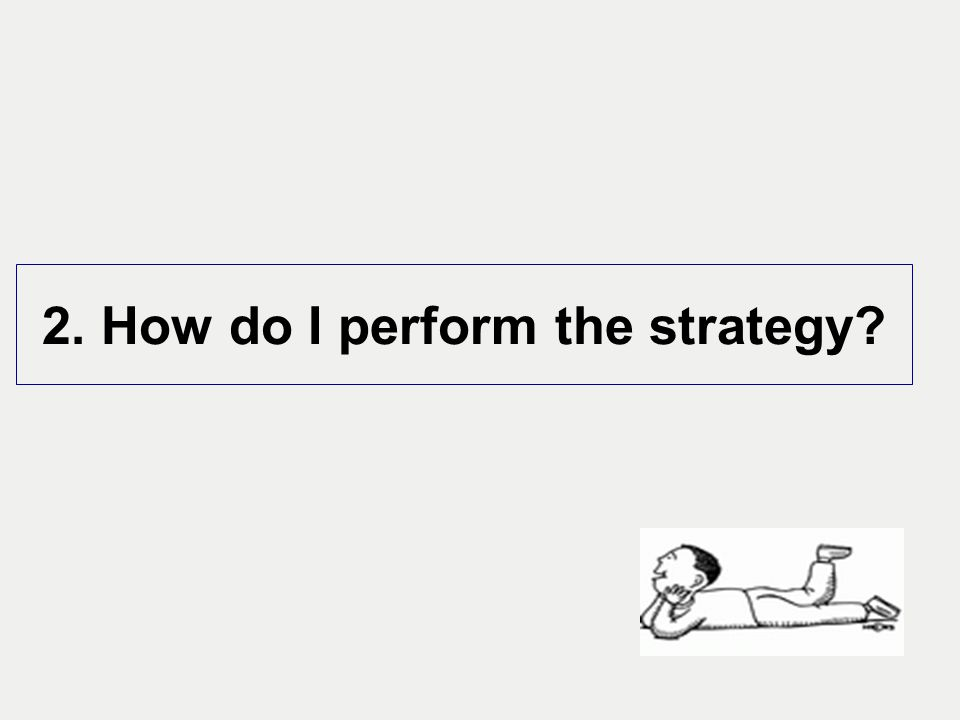 2. How do I perform the strategy