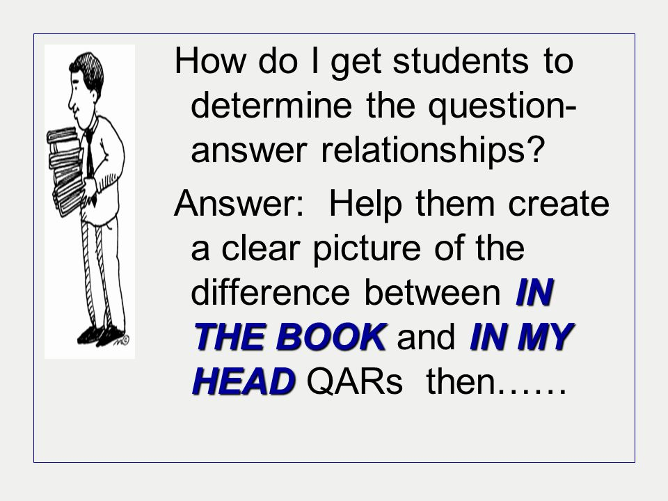 How do I get students to determine the question-answer relationships