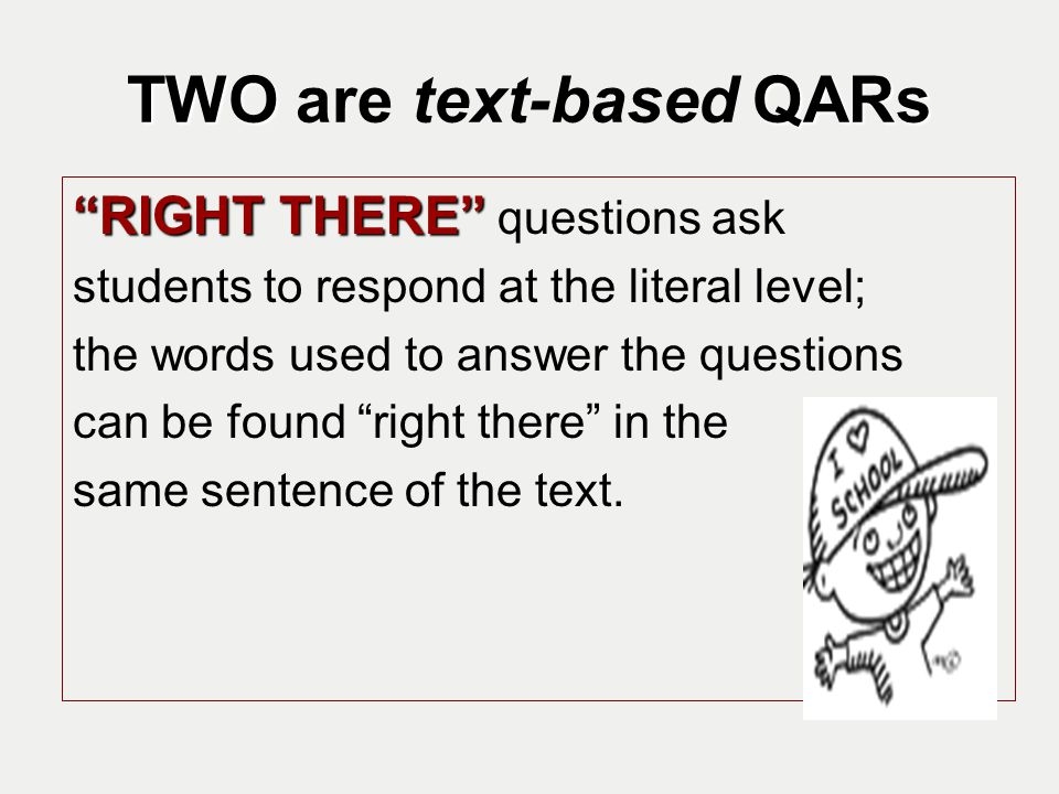 TWO are text-based QARs