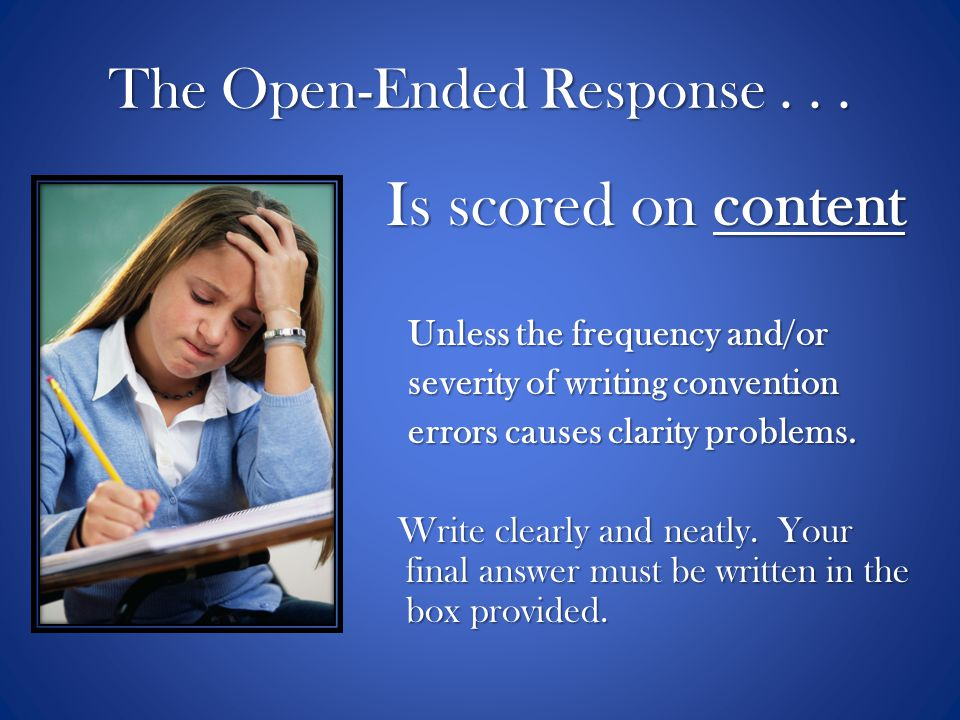The Open-Ended Response . . .