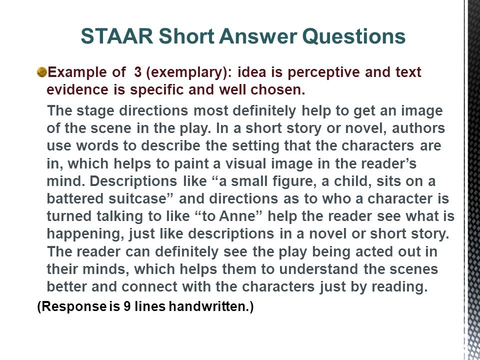 how to memorize short answer questions