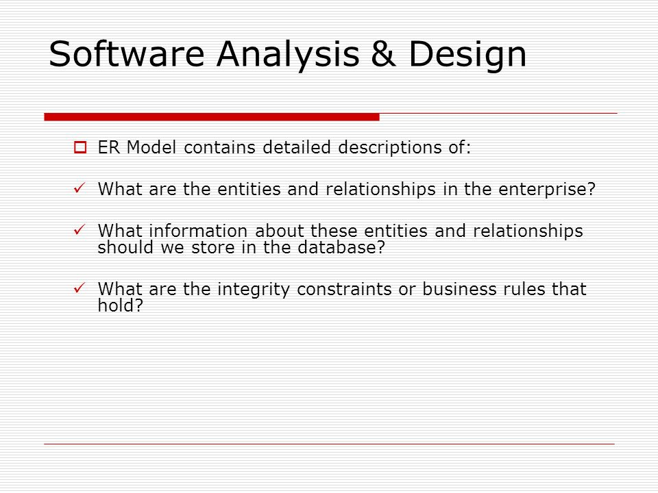 Software Analysis & Design