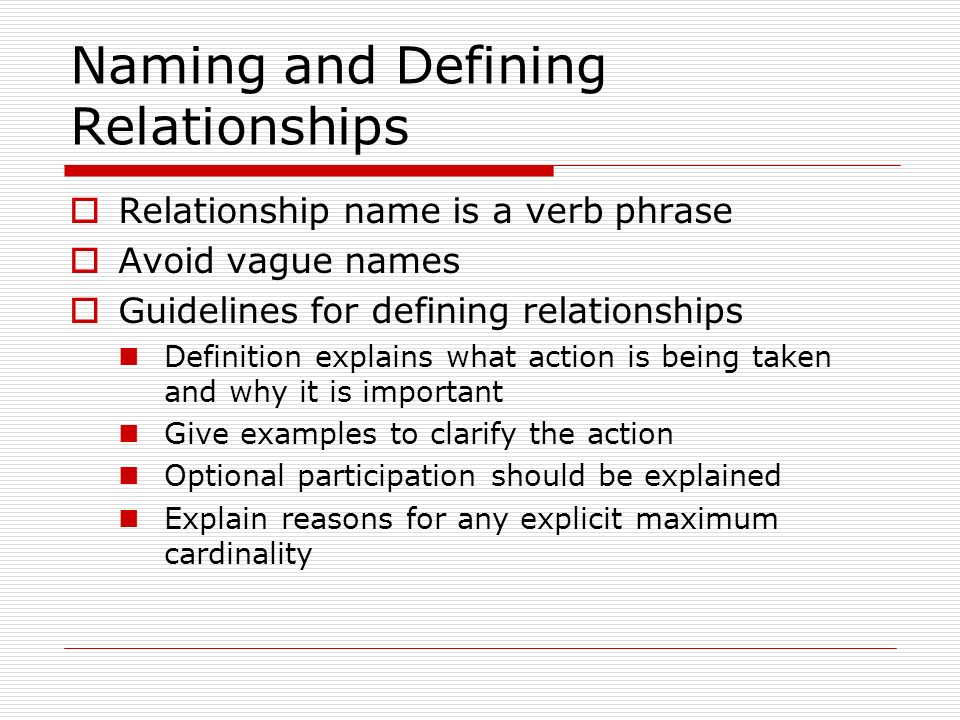 Dating relationship definition