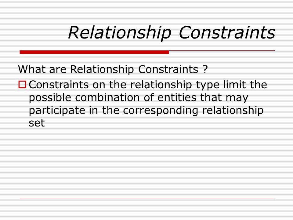 Relationship Constraints