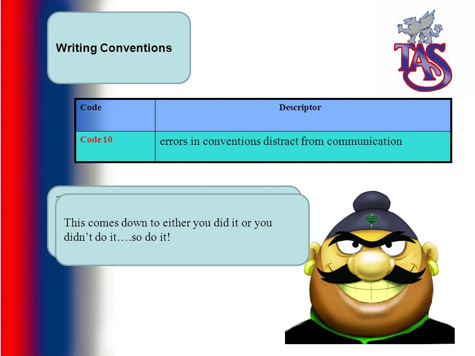 errors in conventions distract from communication