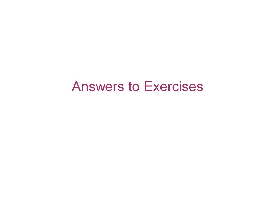 Answers to Exercises