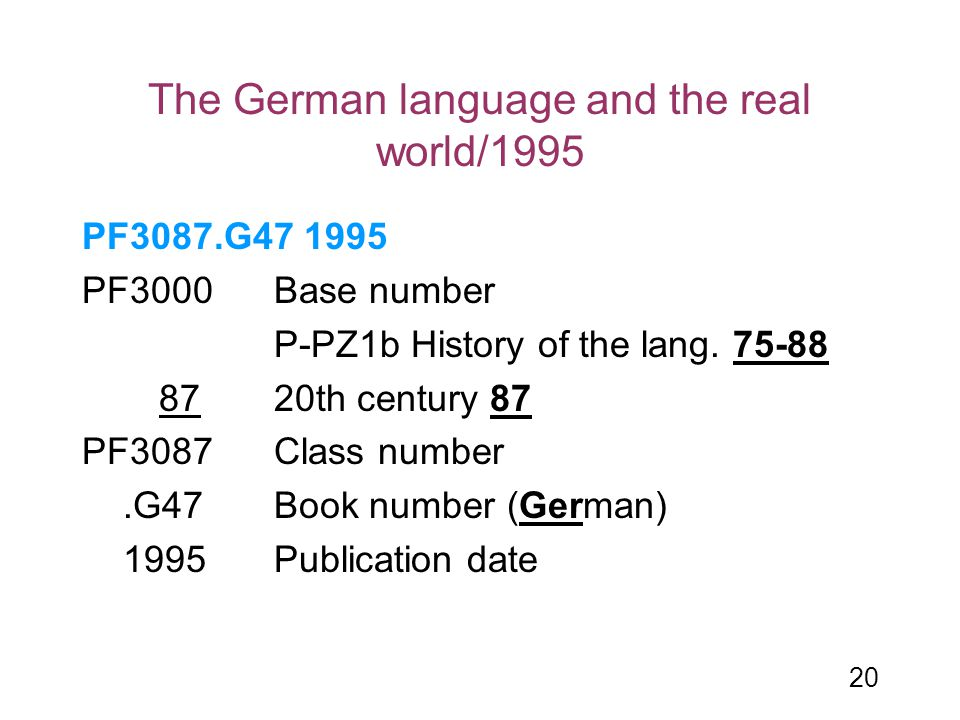 The German language and the real world/1995