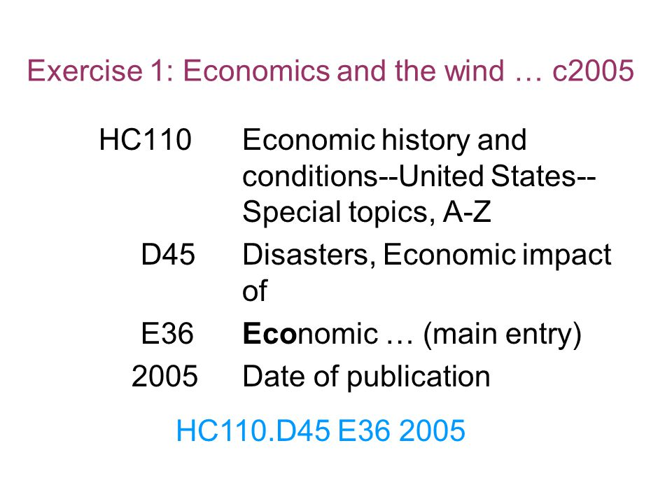 Exercise 1: Economics and the wind … c2005