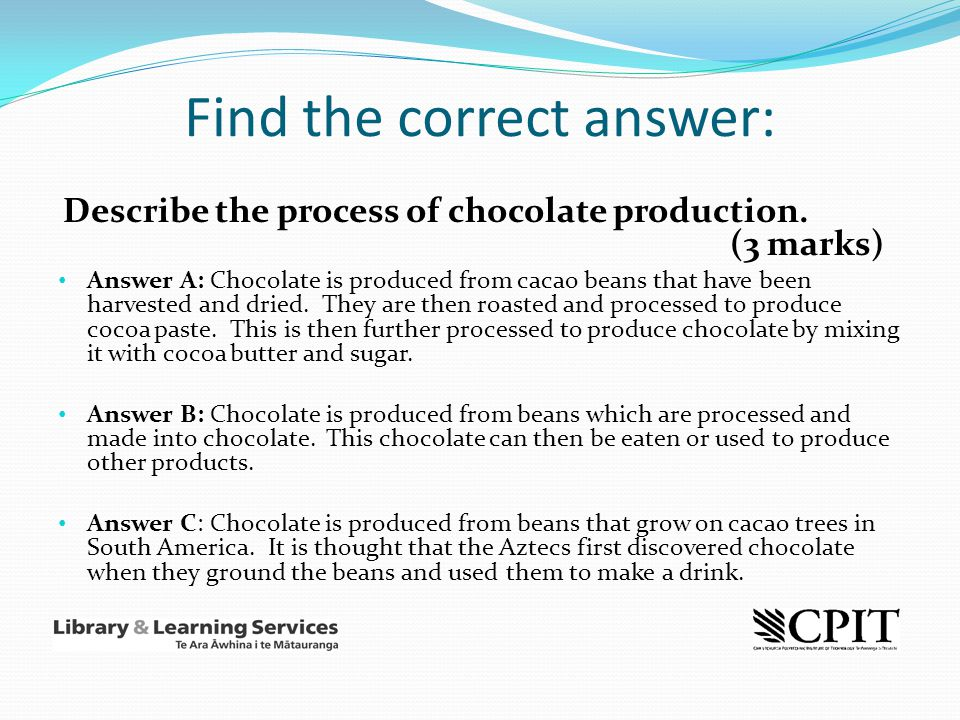 Find the correct answer: