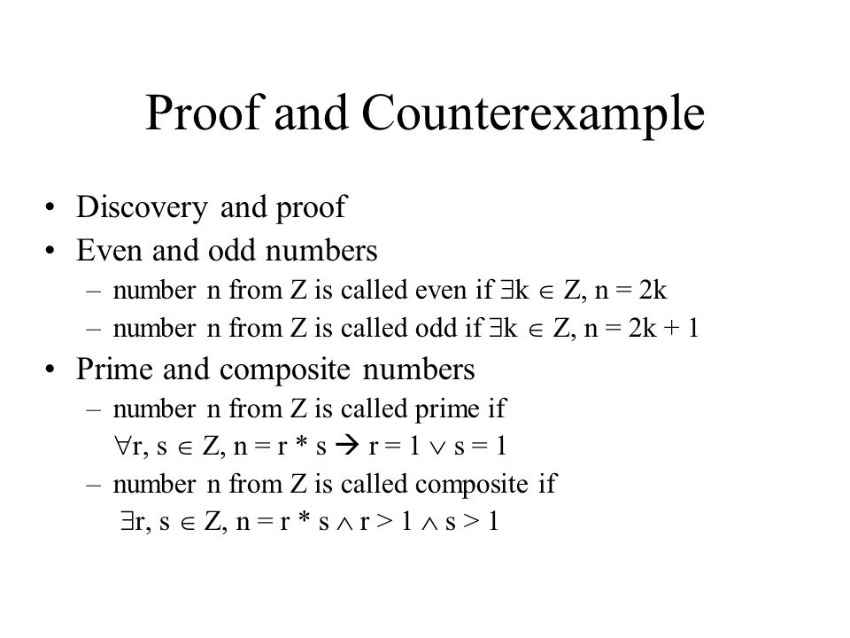 Proof and Counterexample