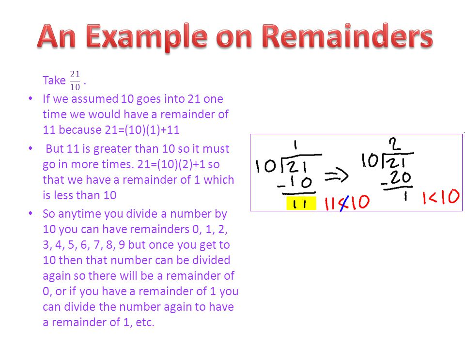 An Example on Remainders