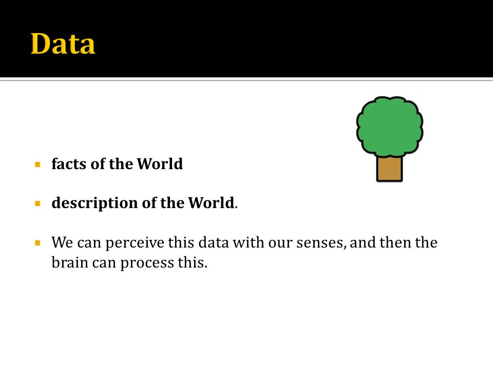 Data facts of the World description of the World.