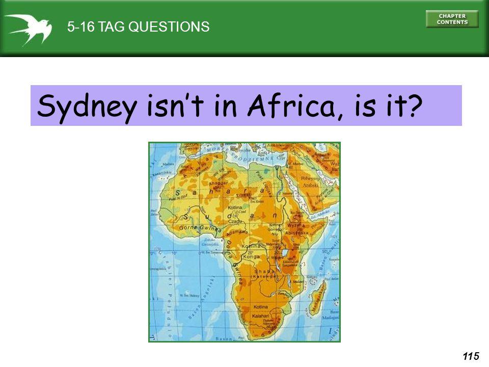 Sydney isn't in Africa, is it