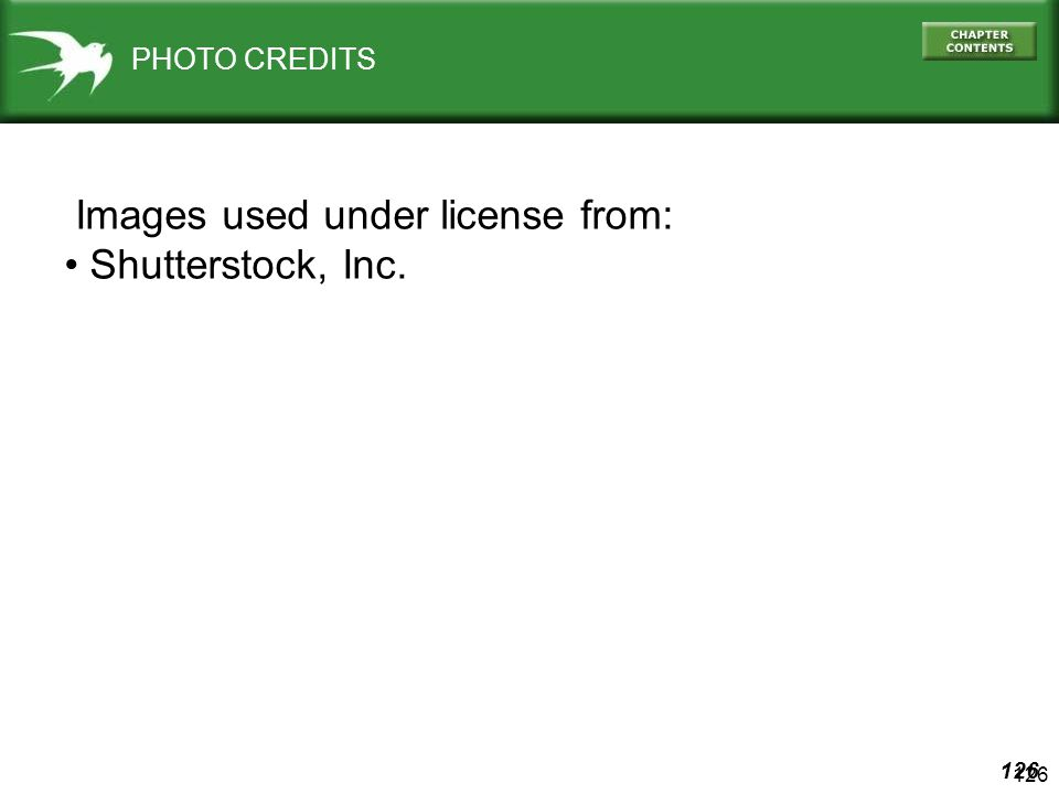 Images used under license from: Shutterstock, Inc.
