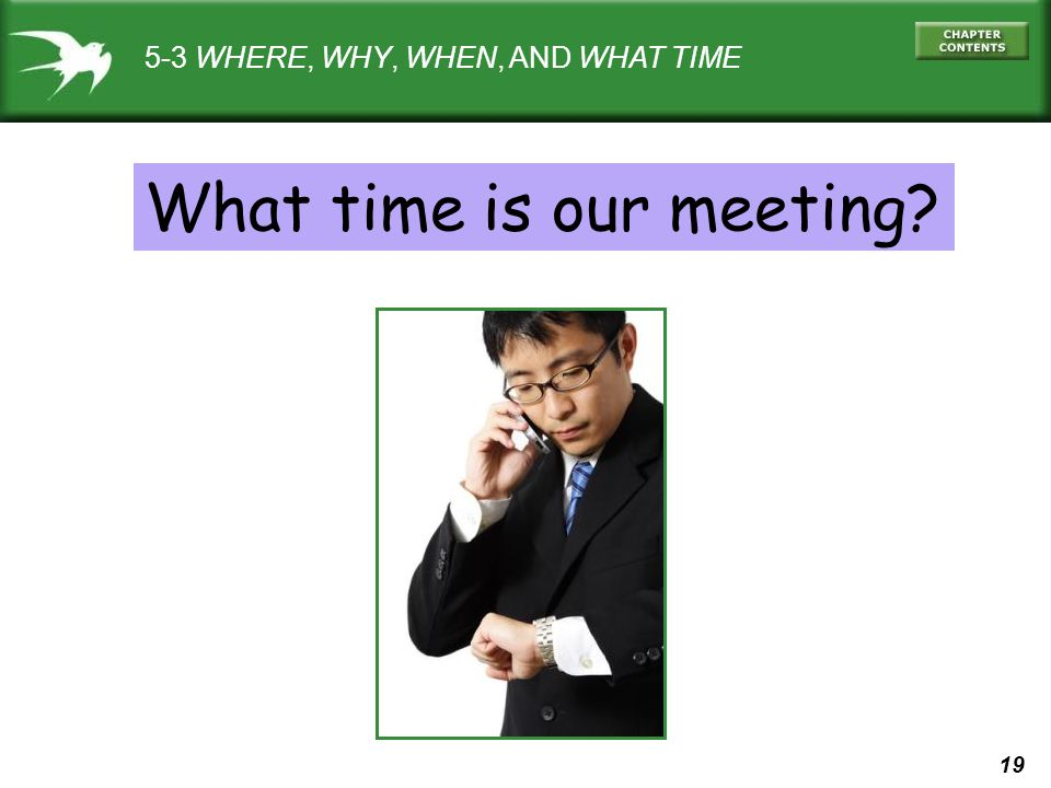 What time is our meeting
