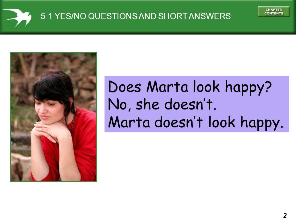 Marta doesn't look happy.