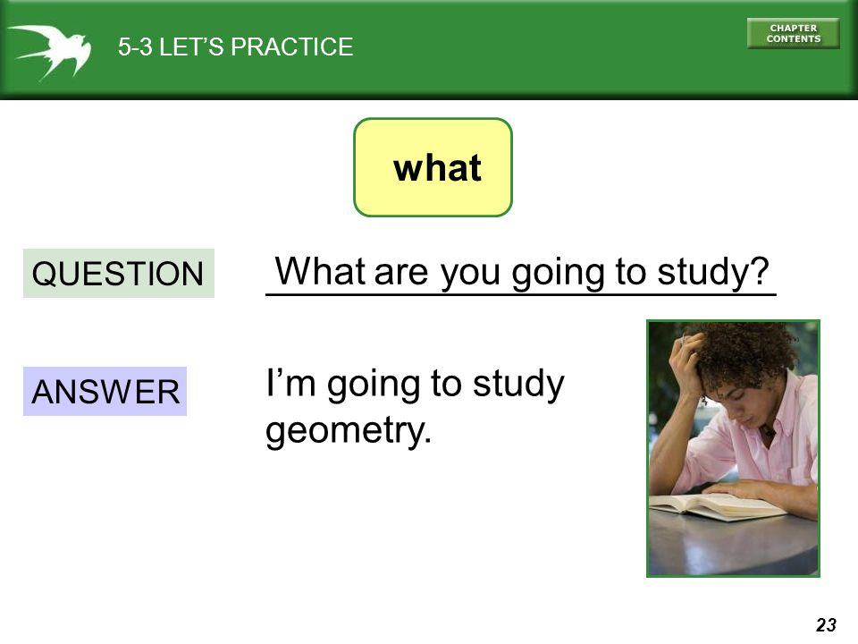 ________________________ What are you going to study
