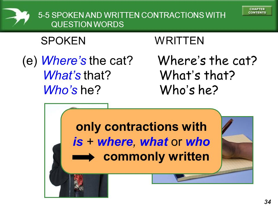 only contractions with