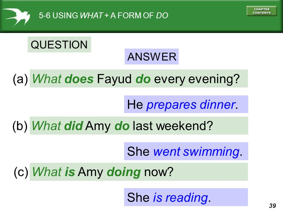 (a) What does Fayud do every evening