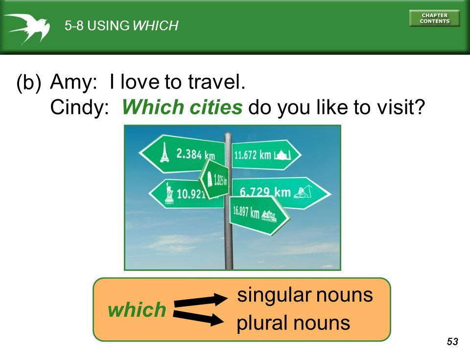 Cindy: Which cities do you like to visit