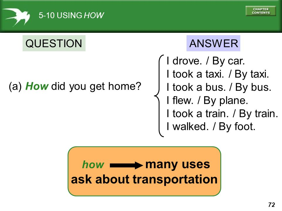 ask about transportation