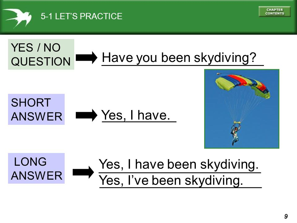 ______________________ Have you been skydiving