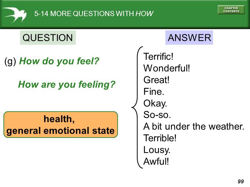 general emotional state