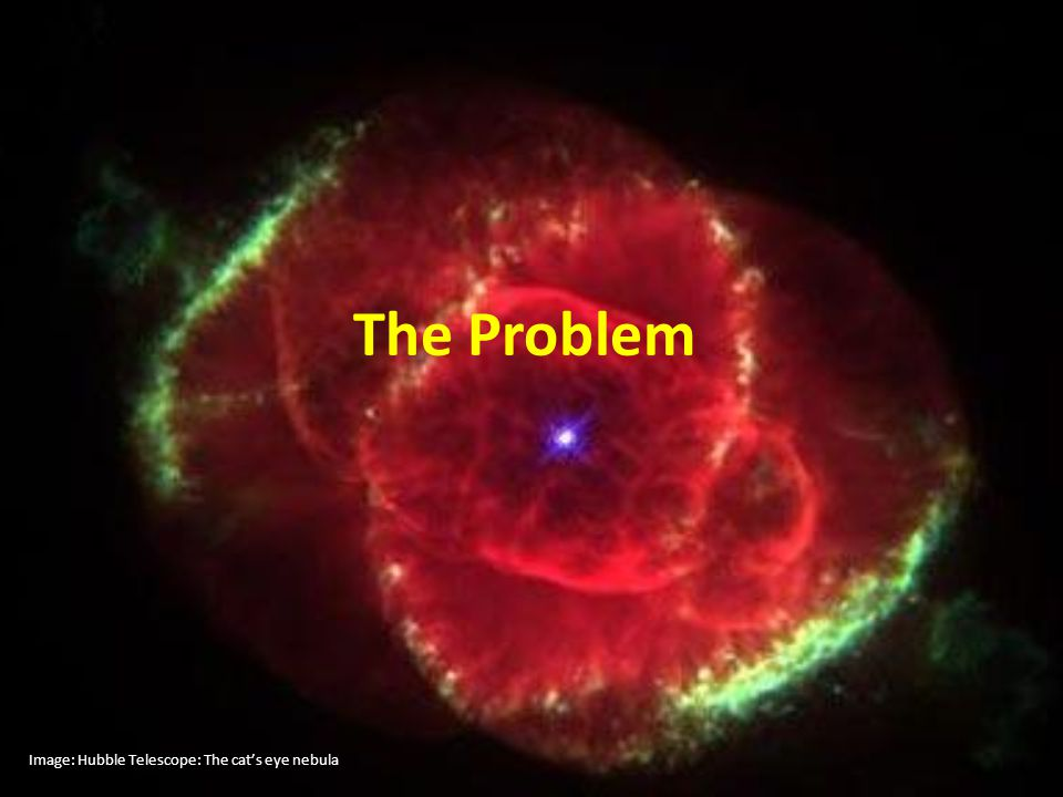 The Problem Image: Hubble Telescope: The cat's eye nebula