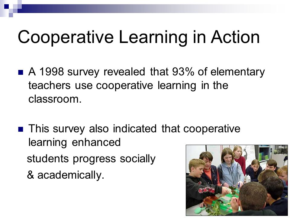 Cooperative Learning in Action