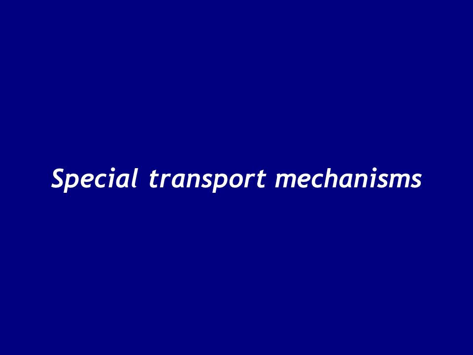 Special transport mechanisms