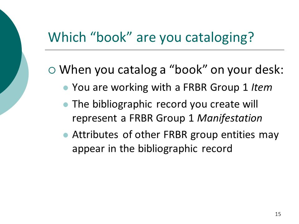 Which book are you cataloging