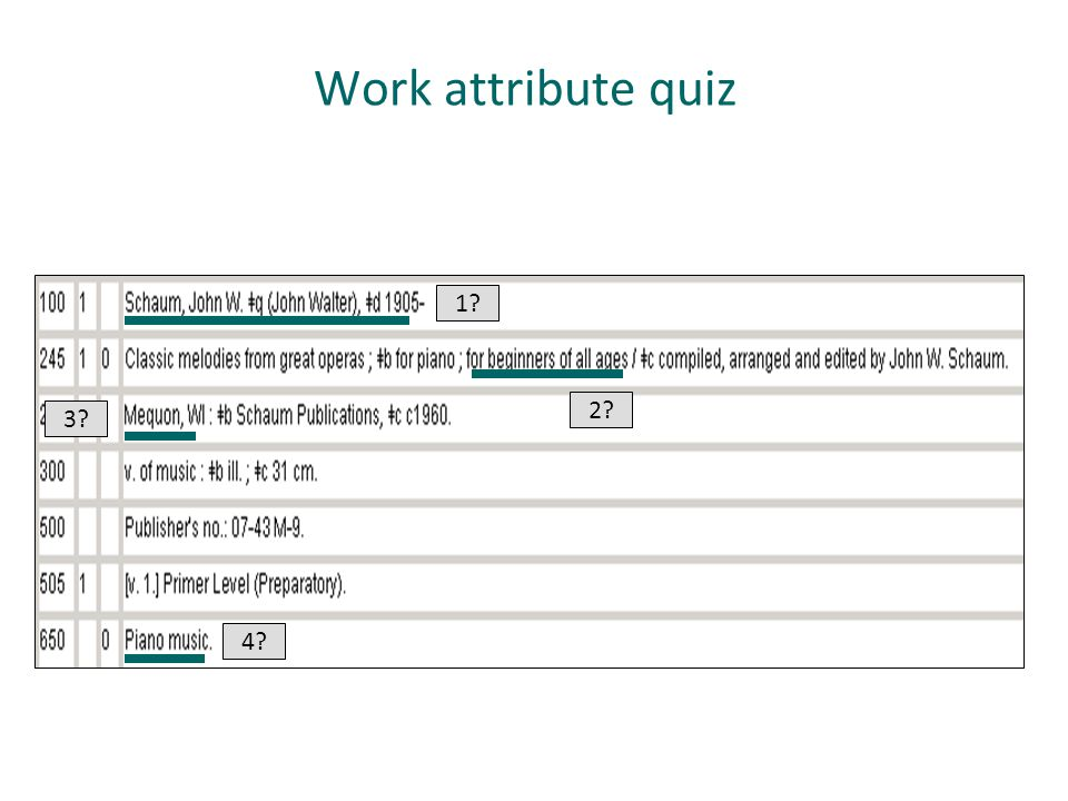 Work attribute quiz 1 2 3 Beginners of all ages is the work attribute. 4
