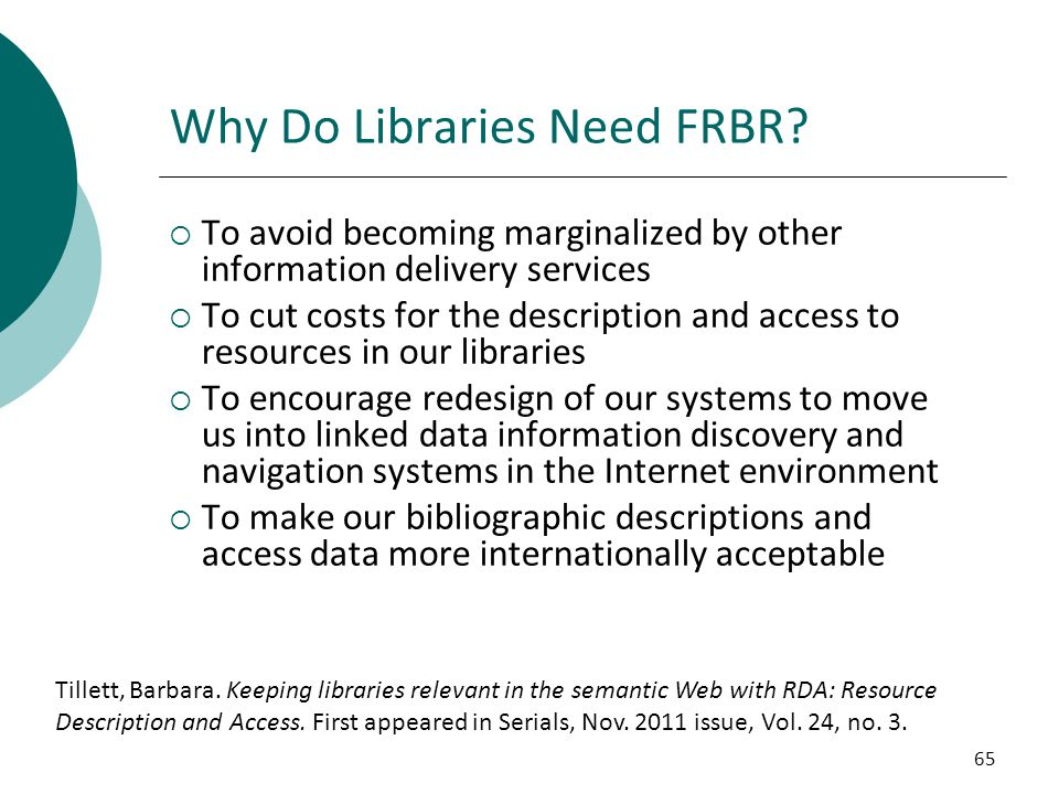 Why Do Libraries Need FRBR
