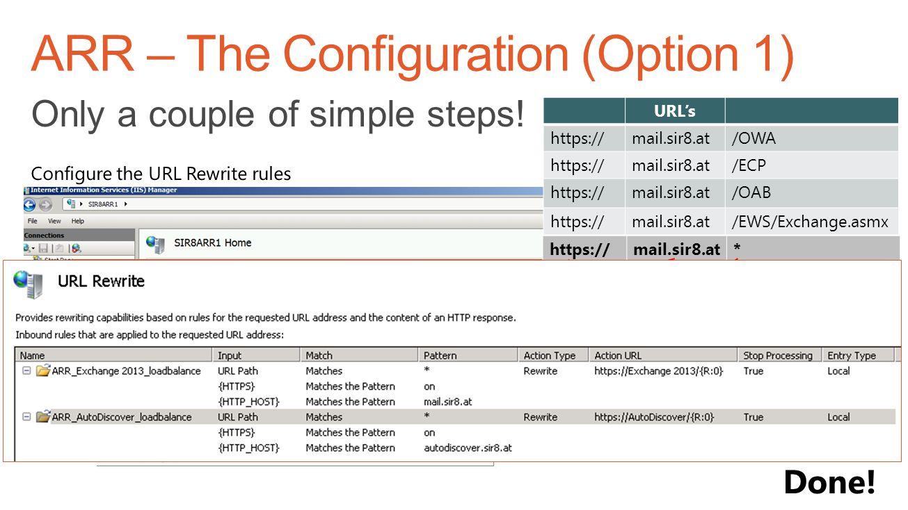 ARR – The Configuration (Option 1)