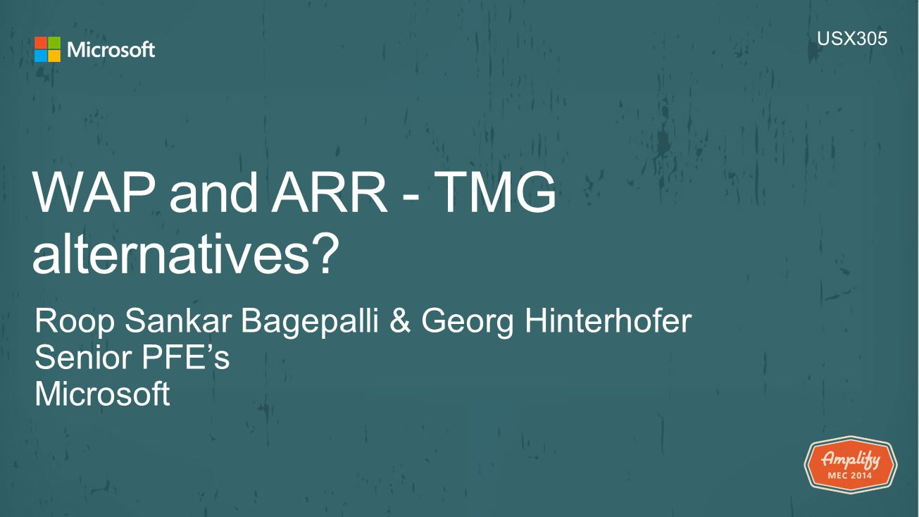 WAP and ARR - TMG alternatives