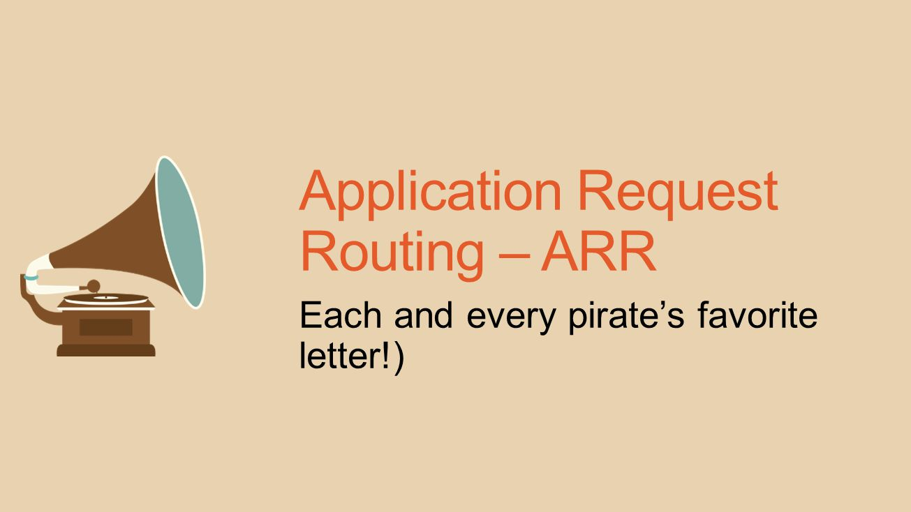 Application Request Routing – ARR