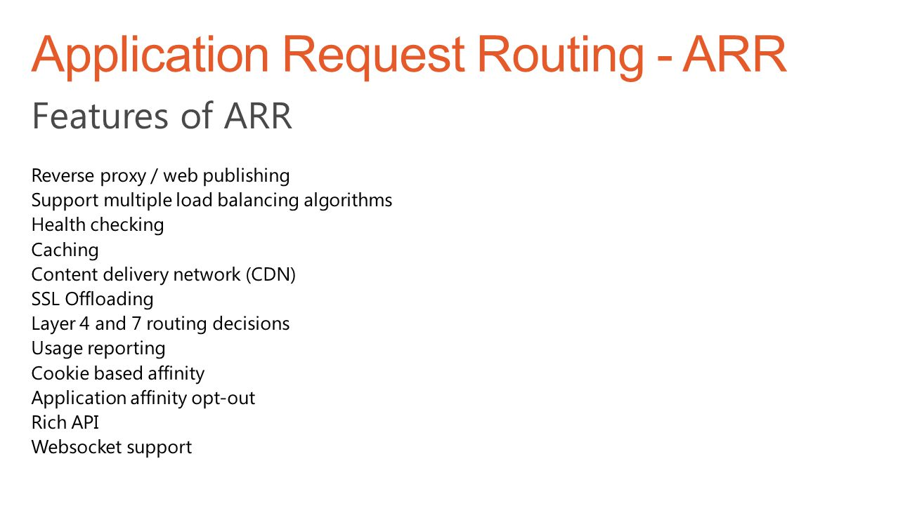 Application Request Routing - ARR
