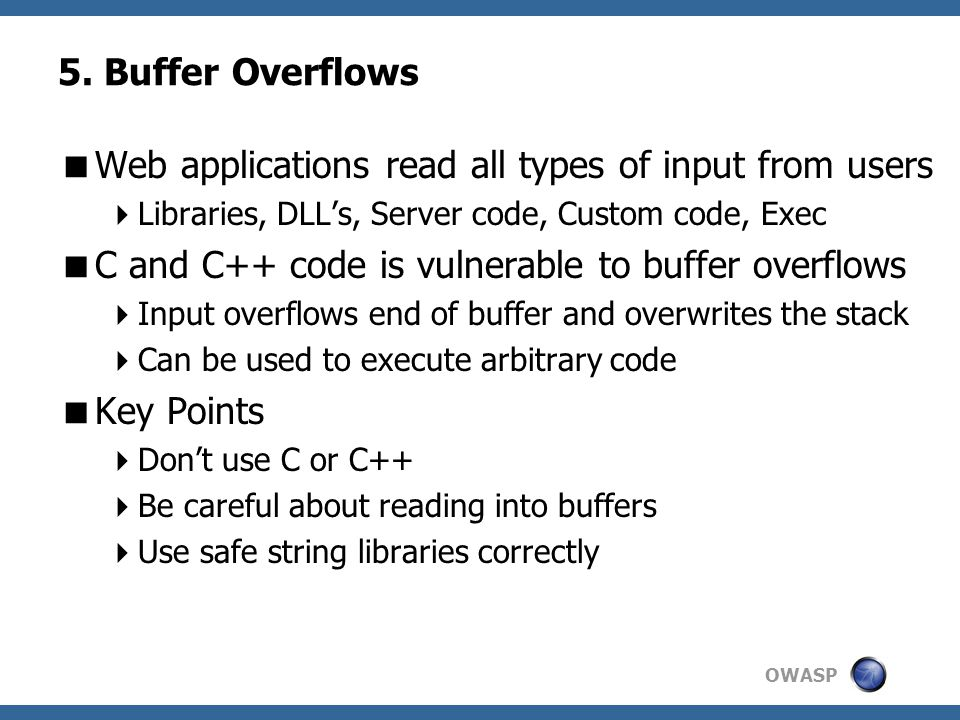 Web applications read all types of input from users