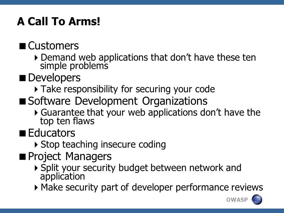 Software Development Organizations Educators Project Managers