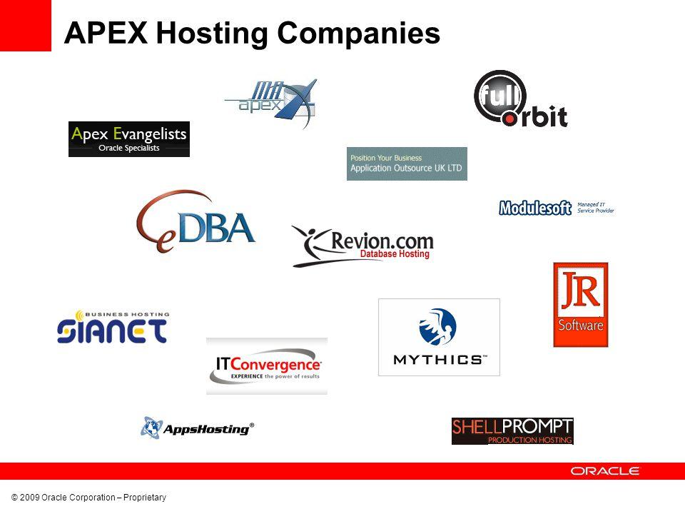 APEX Hosting Companies