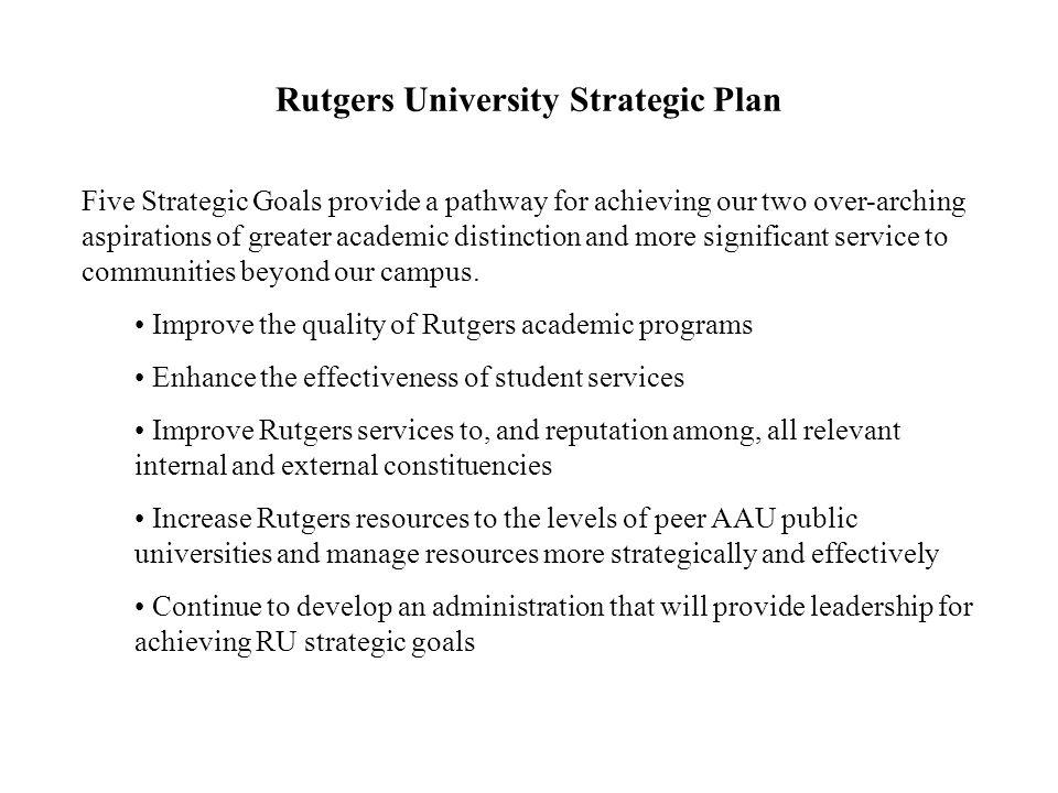 Rutgers University Strategic Plan