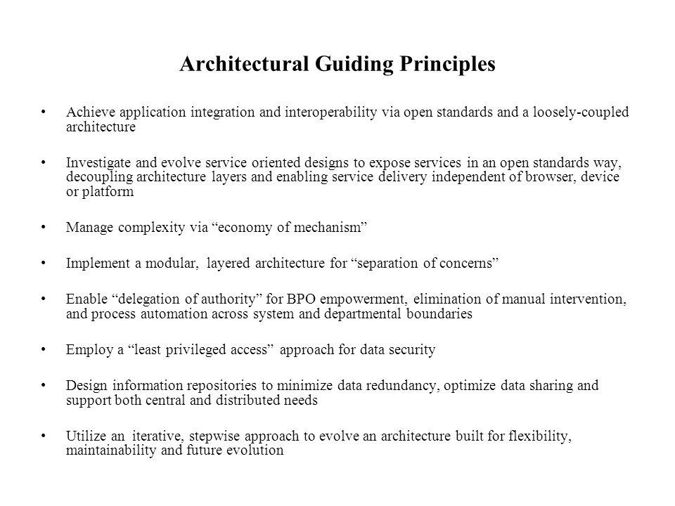 Architectural Guiding Principles