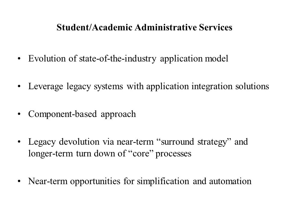 Student/Academic Administrative Services