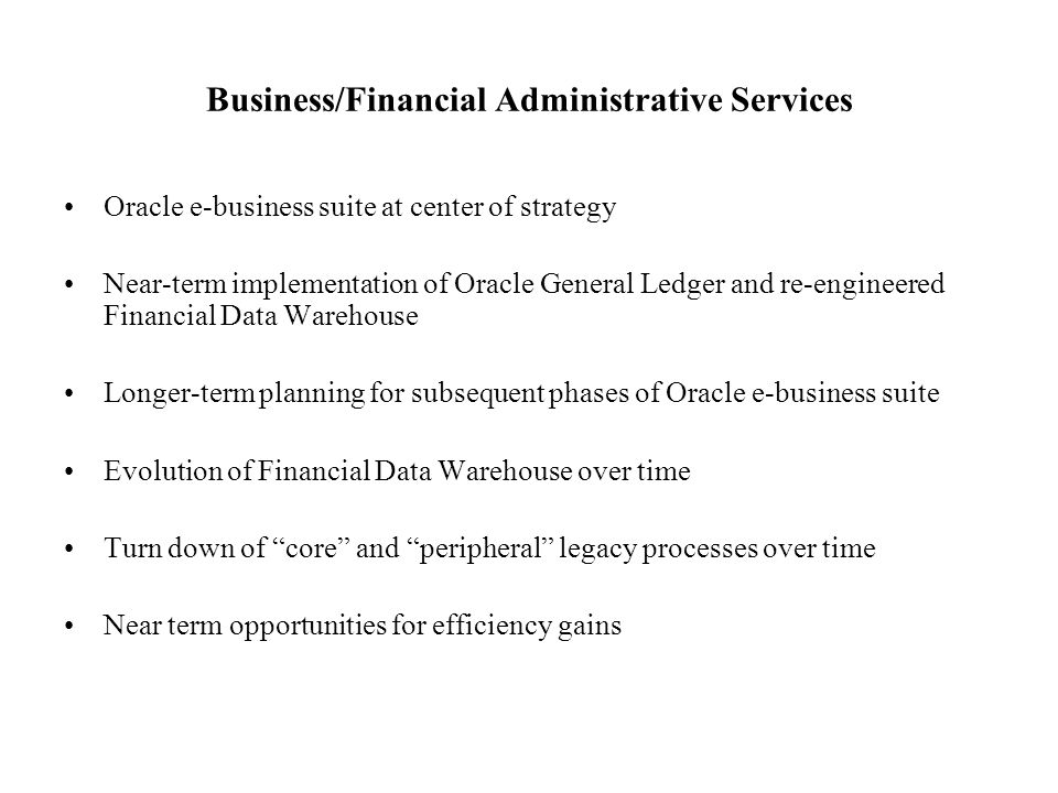 Business/Financial Administrative Services